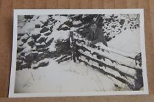 Photograph Social History cart track  in the Snow Black mountains Wales 1950's