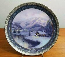 Thomas Kinkade Olympic Mountain Evening Collector's Porcelain Plate 2002 Coa