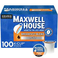 Maxwell House Light Roast Breakfast Blend Coffee K-Cup Pods (31 oz., 100 ct.)