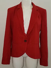 Sparkle & Fade Urban Outfiters Blazer Jacket Size Large Lined Career Rust Orange