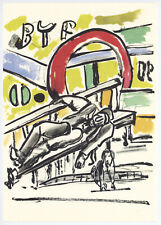 """Fernand Leger print from """"Mes Voyages"""" 33119"""