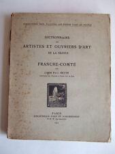 DICTIONNAIRE ARTISTES OUVRIERS D'ART FRANCHE-COMTE 1912 Abbé BRUNE ANTIQUITES