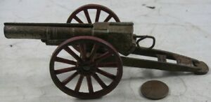 Vintage Cast Iron Field Artillery Cannon