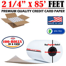 """2 1/4"""" X 85' FT 100 ROLLS THERMAL PAPER CREDIT CARD ROLLS **SAME DAY SHIPPING**"""