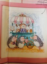 (I) Margaret SHERRY Summer crème glacée Chat et hérisson cross stitch chart