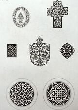 Entrelacs Crucifix ornement architecture gravure Riester Clerget