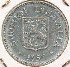 Finland 1957 200mk Silver Coin (8.3g) grade .500