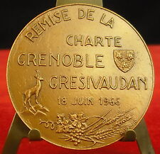 Médaille Lions club International Grenoble Gresivaudan 1966 A david Medal ANIMAL