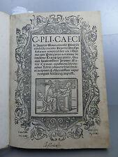 C. Pli. Caecilii Pline Les lettres  Imprimé à Venise en 1519 pour Jean Rubeum  V