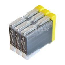 3x TINTENPATRONEN bk BROTHER LC-970 DCP 135c 150c 153c MFC 235c 260c 660cn