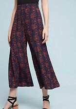 NWT Anthropologie Tessie Wide-Leg Cropped Pants Culottes by Elevenses Size 8