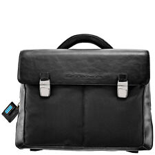 Piquadro Frame Black Organized briefcase with two gussets CA1044FR/N