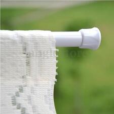 "12-20"" Adjustable Tension Bathroom Curtain Extensible Rod Hanger Spring Loaded"