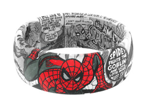 Groove Life SPIDER-MAN BLACK AND WHITE COMIC RING Size 11 Silicone NEW