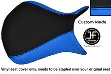 Luz Azul Y Negro Vinilo Personalizado Para Kawasaki Ninja ZX6R 07-08 Cubierta de asiento delantero