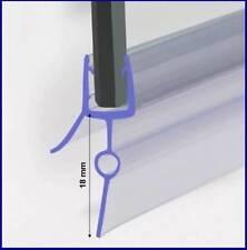 Duschdichtung für 5-6mm Duschtrennwand, Dichtung 90 cm lang, Höhe der Lippe 18mm