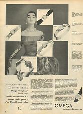 Publicité Advertising 1955  Montre OMEGA  collection Sylphide