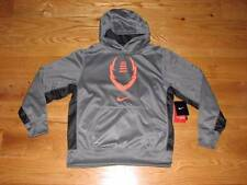 NEW NIKE THERMA-FIT Boys Grey Sweatshirt Hoodie Size S 8 SM Small Youth Football