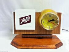 Vintage Schlitz lighted barrel clock beer sign back bar display bubbler motion