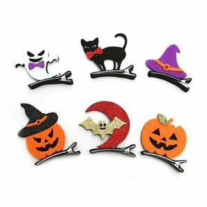 Halloween Children Hairpins Pumpkin Bats Baby Hairpins Dress Up Hair Clips#67
