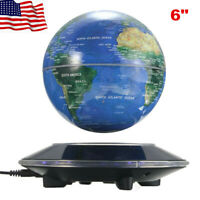 Magnetic Floating Globe Levitation Blue World Map Office Desk Home Decor LED