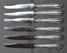 6 COUTEAUX A DESSERT CHRISTOFLE MODELE MARLY METAL ARGENTE ( dessert knives )