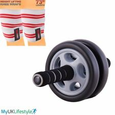 Abdominal Exercise Roller Arm Body Fitness Strength Gym Training New Knee Wraps