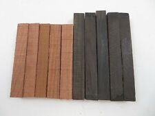"(10) LOT OF 10, EBONY & BUBINGA PEN BLANKS WOOD TURNING  3/4"" X 3/4"" X 5 - 6"""