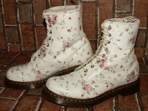 Dr. Martens AirWair 1460 floral rose leather boots uk 8 eu 42 us 10 Doc#149