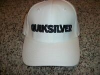 QUIKSILVER New NWT Mens One Size Fits Most S/M L/XL Small Medium White HAT CAP