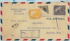 67677 - NICARAGUA  - Postal History - Yvert 556 bisected + PA 11 on COVER 1931