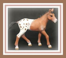 ❤Retired Schleich Horse Figure Appaloosa FOAL Baby 13733 Farm Life Bay Blanket❤