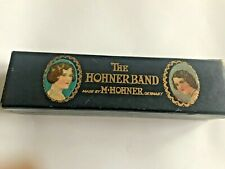 More details for vintage 1920s-1930s the hohner band harmonica c original box with tutorial