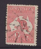 NSW numeral cancel 221 on 1d red Kangaroo