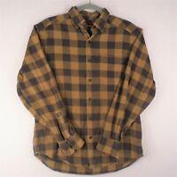 Wolverine Shirt Mens Medium Long Sleeve Button Up Flannel Brown Plaid