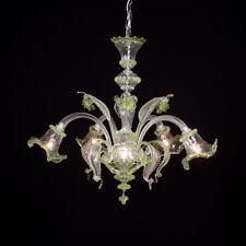 Ca' venier lustre en verre de Murano 5 lumières cristal vert