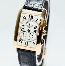 Cartier Tank Americaine 18K Yellow Gold Chronograph ref.1730 Gold 18kt