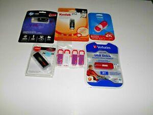 Lot of USB Memory Stick's; Flash Drives: Five 8GB, 16 GB, 4gb & two 2 GB *NEW*