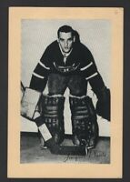 1944-63 Beehive Group II Montreal Canadiens Photos #278 Jacques Plante