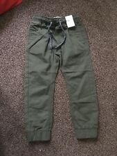 NEW Boys Green Cargo Trousers Matalan Age 5