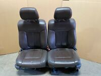 2012 FORD F150 PLATINUM FRONT LEATHER BUCKET SEATS HEATED AND COOLED BROWN