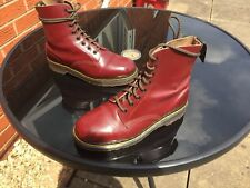 VINTAGE Dr Martens 1460 Cherry Red Stivali in Pelle UK 3 EU 36 Made in England