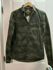 BNWT MEN'S SUPERDRY SURPLUS BUTTON DOWN SHIRT CAMOUFLAGE US SIZE SMALL (S)