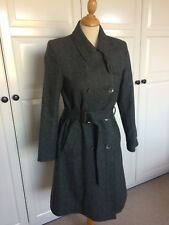 Pure Collection Cashmere & Wool Belted Trench Coat Size Small 8 10 Mac