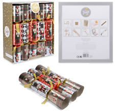 """10 X 14"""" Luxury Foil Nutcracker Christmas Crackers Silver Red Deluxe Gifts -0261"""