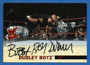 Bubba Ray Dudley 2001 Fleer Autograph Dudley Boys 111/500 WWE Wrestling Signed