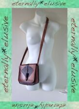 Vintage 70s PARMAR'S Tooled Leather Satchel Shoulder Bag Handbag Preppy Festival