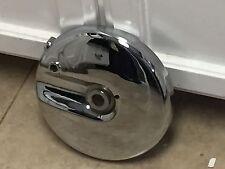 New Harley Davidson Shovelhead Chrome Front Drum brake Plate 1969-1972-FREE SHIP