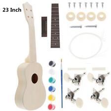 More details for 23'' concert ukulele diy kit hawaii guitar for handwork painting kids gift