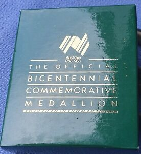 1988 BICENTENIAL COMMEMORATIVE MEDALLION   *** STUNNING  **